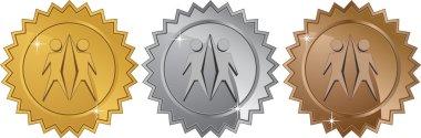 Teamwork Symbol - Set of 3 Seals