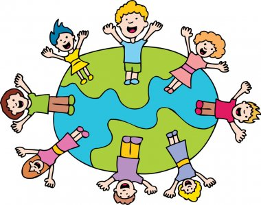 Children Waving Around The World