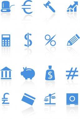 Banking Buttons - Light Blue