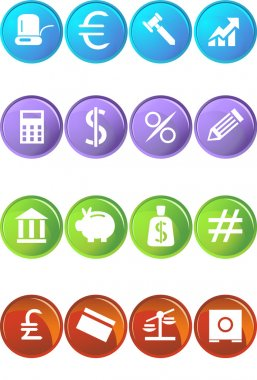 Banking Buttons - 4 Color