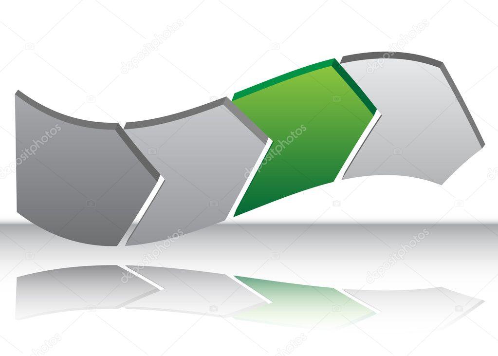 Green Arrow Warp Chart