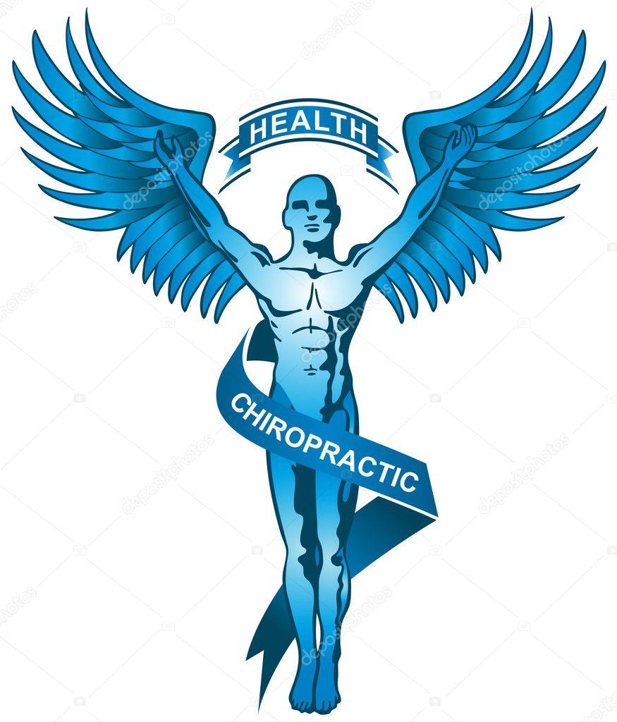 Chiropractic Symbol - Blue