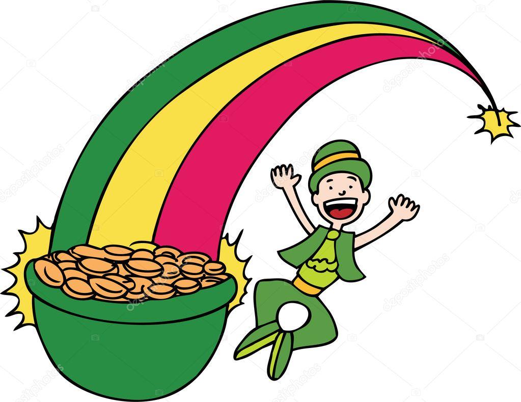 oro del arco iris — Vector de stock © cteconsulting #3986645