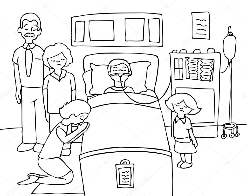 Sick child stock vector cteconsulting 3986773 for Sick coloring pages