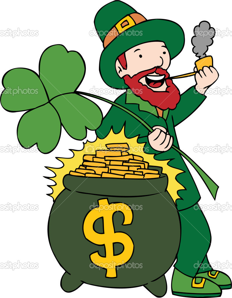 lucky pot of gold u2014 stock vector cteconsulting 3989862