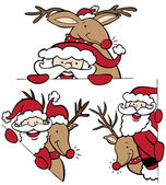 Photo Santa and Reindeer Set