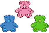 šité medvědy