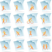 Fényképek Sportoló ikonok