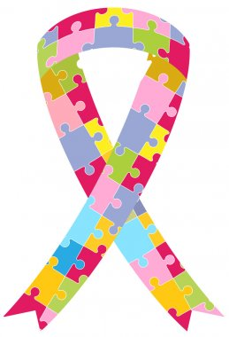 Puzzle Pieces Ribbon