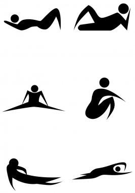 Exercise Stick Figure Set