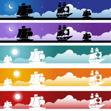 Sailboat Banner Set