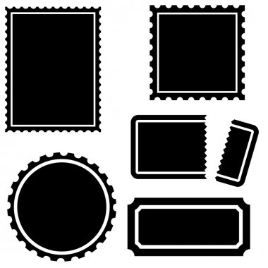 Set of multiple labels - stamp / ticket style. clip art vector