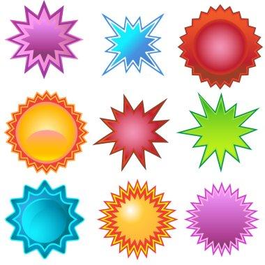 Starburst Stickers: Bursters
