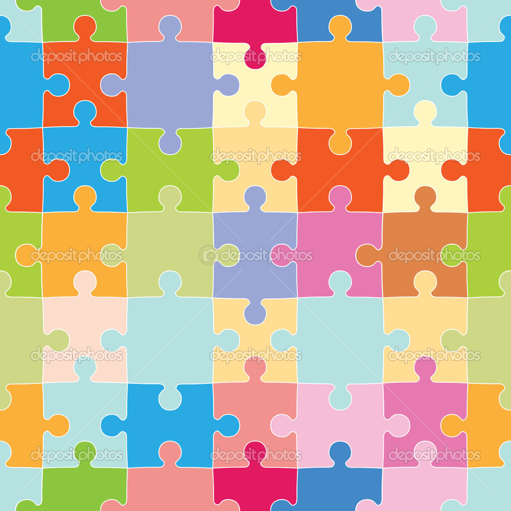 Colorful Interlocking Puzzle Pieces With Repeating Wallpaper Design Vector By Cteconsulting
