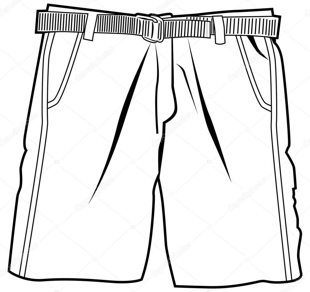 Imágenes Shorts Para Colorear Pantalones Cortos Vector De Stock
