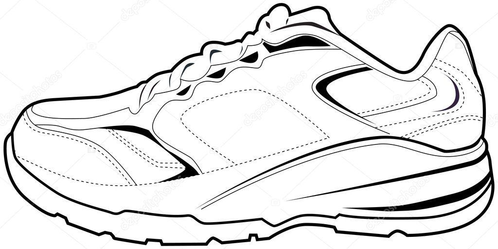 zapato tenis — Vector de stock © cteconsulting #3990870