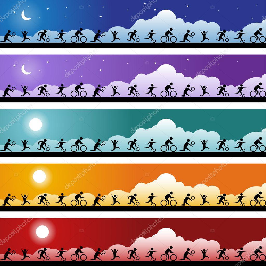 Athelete Banner Set