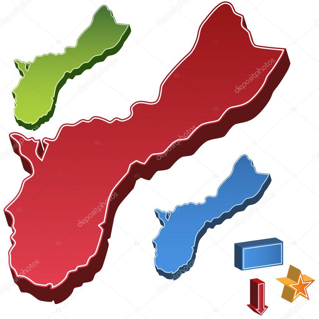 グアム州地図 \u2014 ストックベクター © cteconsulting 3991154