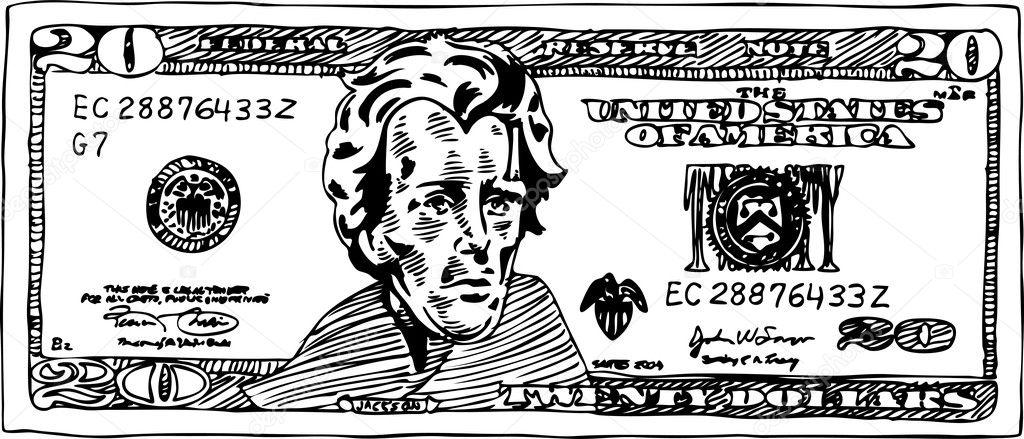 20 dollar bill stock vector 169 cteconsulting 4001391