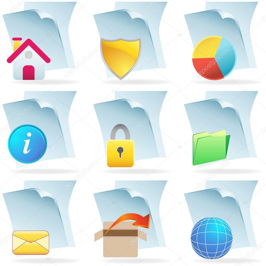 3D Web-Dokument-icons — Stockvektor © cteconsulting #4009845