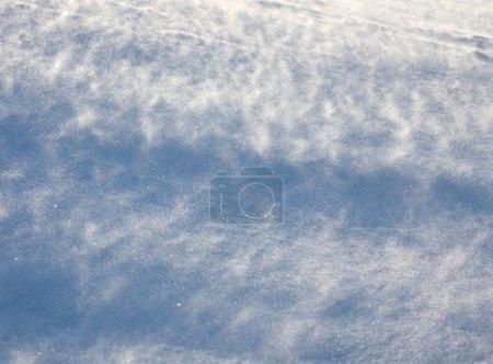 Photo pour Blizzard accompagné de vent au sol comme fond abstrait, mise au point peu profonde - image libre de droit