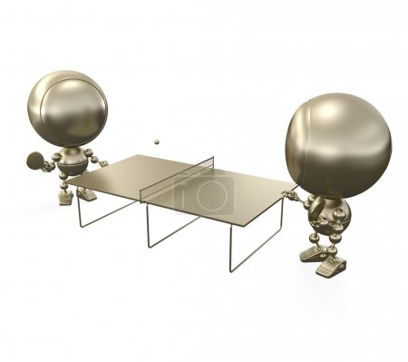 Ping pong (table tennis) golden players