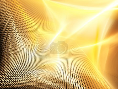 Golden technology background