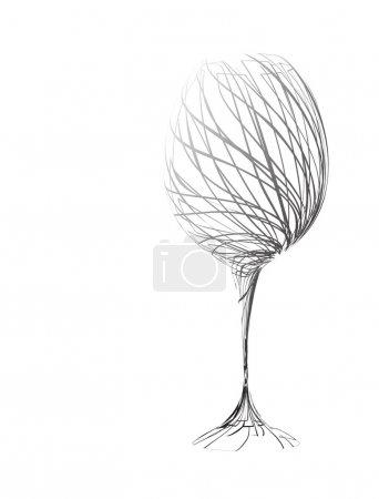 Illustration pour Le verre à vin stylisé pour défaut (vecteur ) - image libre de droit