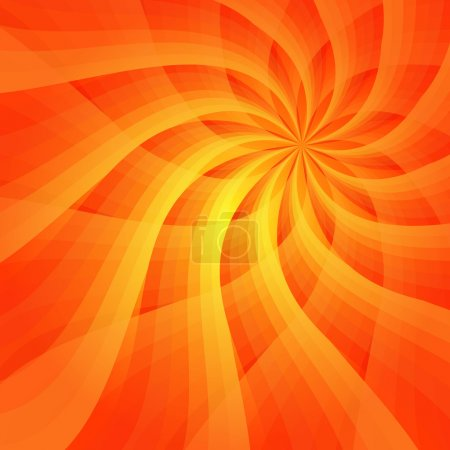 Illustration for Abstract vivid orange background with sun-flower (vector EPS 10) - Royalty Free Image