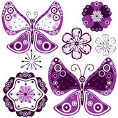 Květiny a motýli