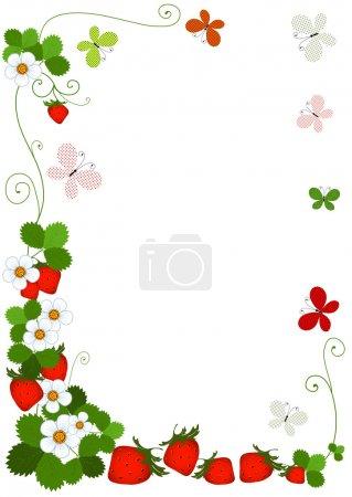 Colourful floral frame