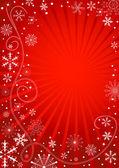 Abstraktní červená vánoční rám