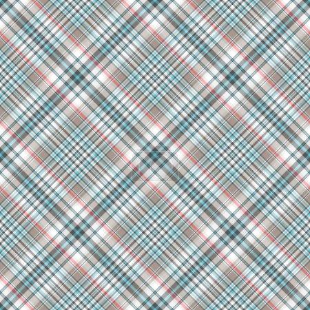 Photo pour Motif diagonal à carreaux gris-bleu sans couture (vecteur, EPS 10 ) - image libre de droit