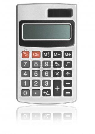 Photo pour Une calculatrice sur fond blanc  . - image libre de droit