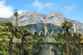 Palace and mountains