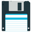 Floppy disk for various designs - without gradient...