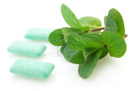 Peppermint with chewing gum