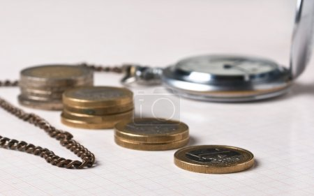 Pocket watches and coins