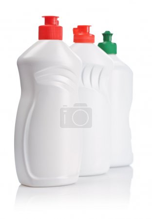 Photo for Three white clean bottles - Royalty Free Image