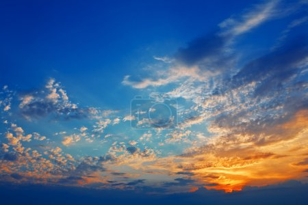 Sunset on sky