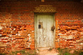 Old brick wall with door