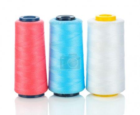 Isolated three spool of thread
