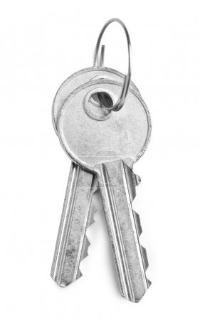 Photo for Two gray keys isolated - Royalty Free Image