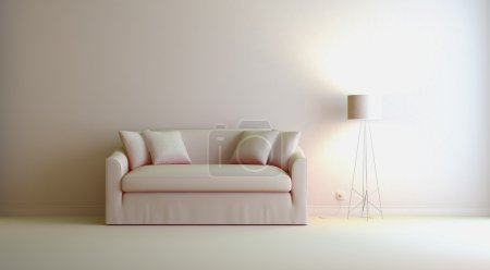 Photo for A gray 3d interior composition - Royalty Free Image