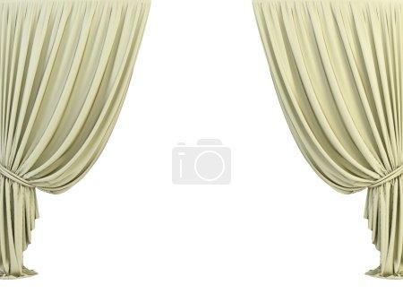 Foto de Cortina clásica 3d sobre el fondo blanco - Imagen libre de derechos