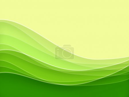Photo for Green blurry waves and curved lines background - Royalty Free Image