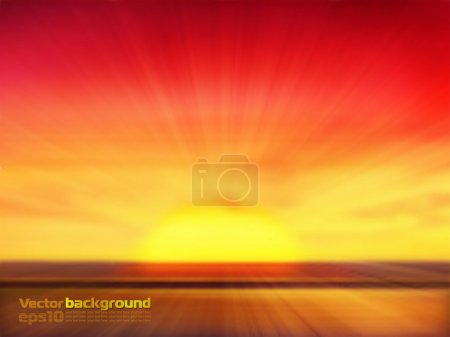 Illustration for Sunset background - Royalty Free Image