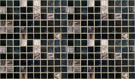 Photo for Black and purple wall tiles seamless pattern - Royalty Free Image