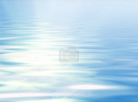 Blue sky reflection in water