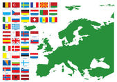 Flags of Europe Vector illustration for you design